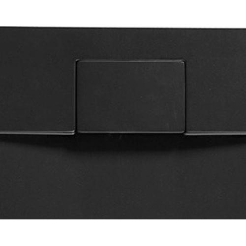 Receveur de douche RADIANCE texture Lisse Noir 80x90 cm Radiance_noir Vidage