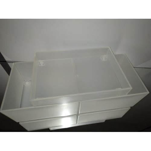 Lot de 3 Boîtes de rangement cosmétique Boite rangement empilée