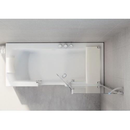 Combiné Bain/Douche DUO 160x75 cm - Tête à Gauche baignoire-rectangulaire-kinedo-duo-vue du dessus Gauche