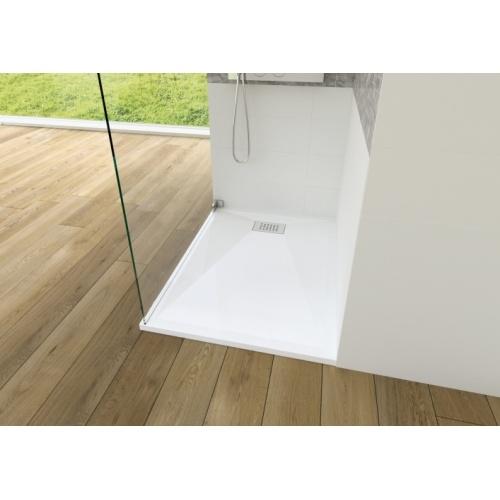 Receveur KINESURF Extra-plat Blanc - 70x120 cm Kinesurf 4 cm 120x80 - Bonde largeur