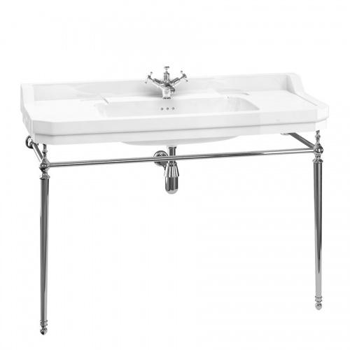Vasque rectangulaire et console Edouardien BURLINGTON 120 cm B19 T51 CHR