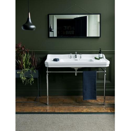 Vasque rectangulaire et console Edouardien BURLINGTON 120 cm