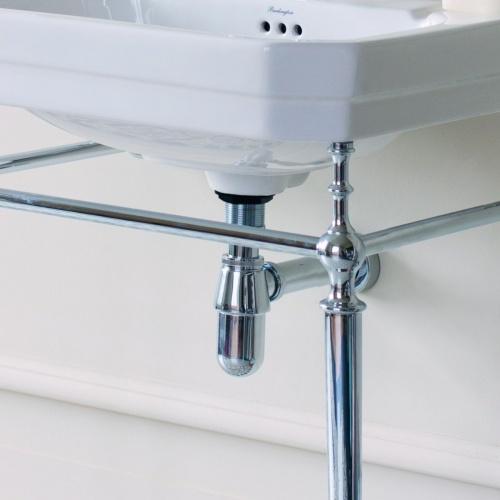 Siphon de lavabo rétro Chromé W14 Amb