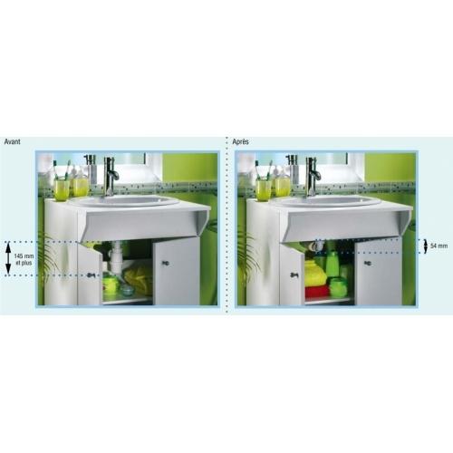 Siphon souple ultra-plat SENZO pour lavabo Siphon senzo gain place
