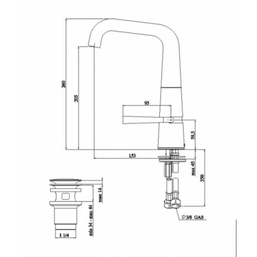 Mitigeur lavabo chromé LIKID LK00118-2 COTE