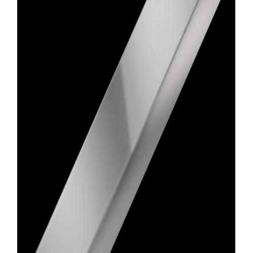 Porte coulissante Zephyros 2A 150cm verre Fumé, profilés Silver Profilé silver