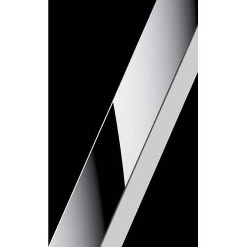Paroi de douche Fixe KUADRA H Transparent 30cm - Profilé Chromé Profilés chromé