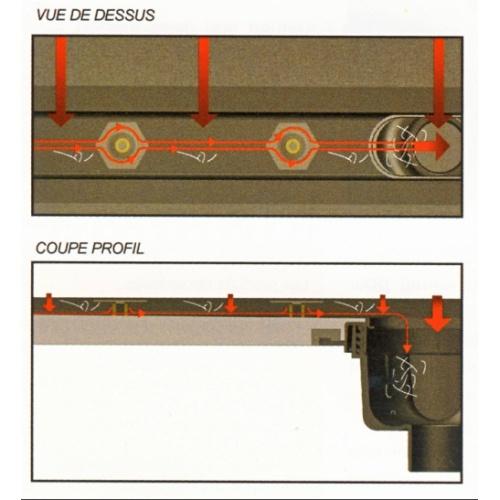 Receveur à carreler PANODUR LINEAL écoulement Linéaire 80x90 SH Schéma 2
