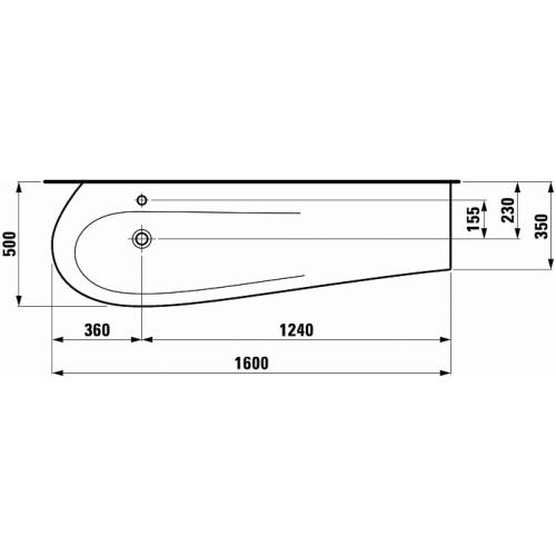 Vasque céramique Alessi Laufen Tdt1 814971 d global tf techdrawing