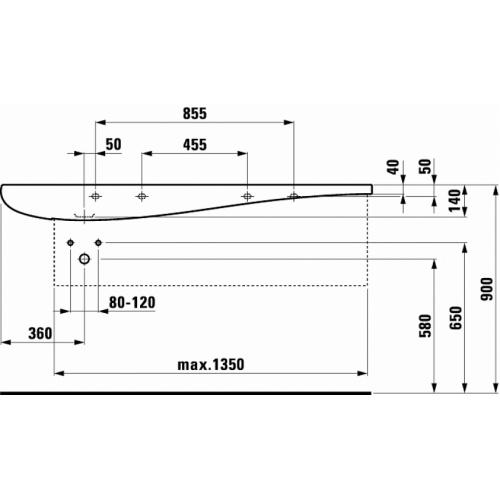 Vasque céramique Alessi Laufen Tdf1 814971 v global tf techdrawing