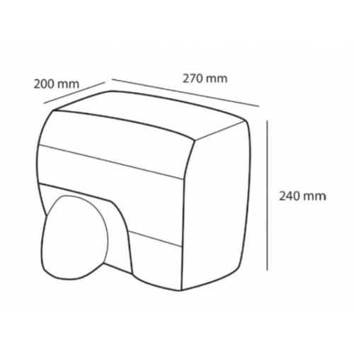 Sèche-mains à bec Inox CASSELIN - CB2INOX Sèche mains cb2 cote