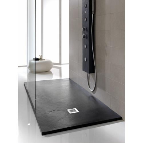 Receveur de douche souple SOFT Noir 80x80 cm Plato poliuretanano negro soft baños10 [1600x1200]